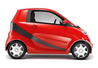 3D Red Hybrid Car