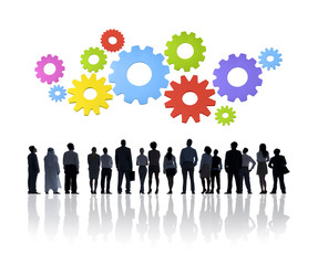 Group of Business People with Cogs