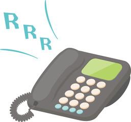 着信音が鳴っている電話機