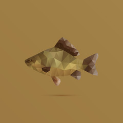 Fish made with triangles