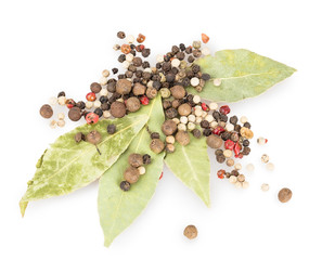 bay leaf, pepper