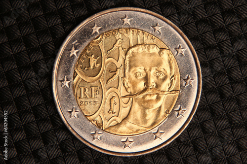 2 euro pierre de coubertin