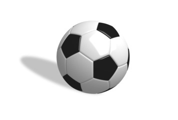 3D Football in white background