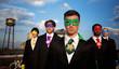 Multiethnic Superhero Businessmen