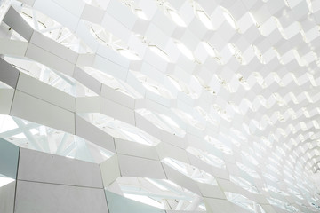 glass ceiling in mall