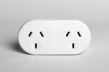 Australian style double power adapter