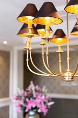 Lighting decor in modern living room