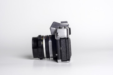 Vintage SLR camera left side view