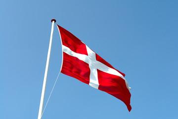 Flag of Denmark up high