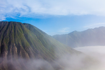Batok mountain in east java , indonesia