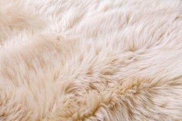 close up texture of fur carpet for background