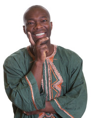 Laughing african man with traditional clothes