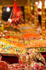 Christmas candy store on the local square, Belgrade