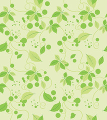 Seamless abstract green leaves pattern