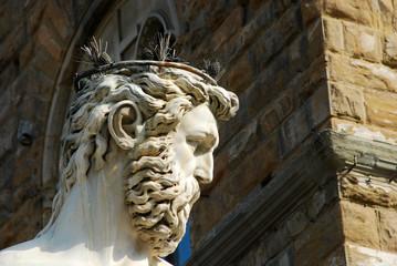The Statue of Piazza della Signoria in Florence - Tuscany - Ital