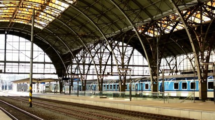 Train Station in Prague, Czech Republic