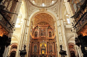 Interior de la catedral de Córdoba, Andalucía, España