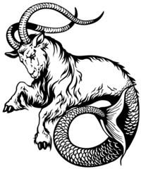 capricorn black white