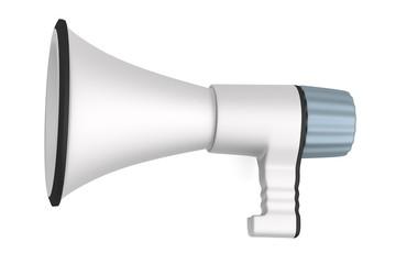 realistic 3d render of bullhorn