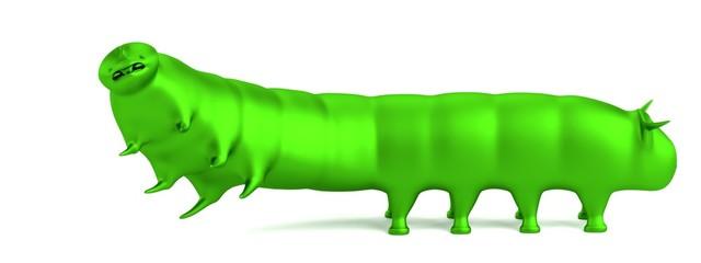 realistic 3d render of caterpillar