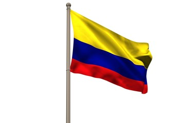 Digitally generated colombia national flag