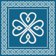 Shamrock - celtic knot,St.Patrick holiday symbol,vector