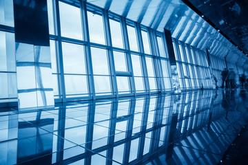 modern glass viewing platform