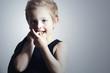 little boy.fashion children.handsome blond kid.smiling child