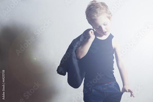 fashionable little boy.fashion children. Child