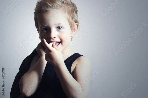 little boy.fashion children.handsome blond kid.smiling child