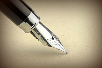 Fountain pen, close up image