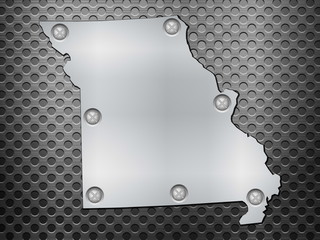 Missouri metal map