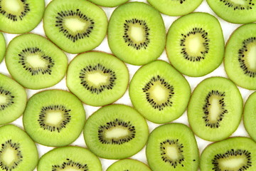 Kiwi slices background ,close up image