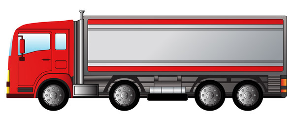 red modern truck