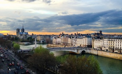 Seine Paris Sunset