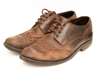 Old brown shoes
