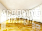 Accommodation home, creative conceptual illustration poster
