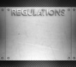 Regulations concept on steel plate