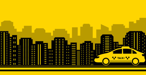 taxi city background