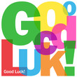 """GOOD LUCK!"" Letter Collage (card congratulations well done)"