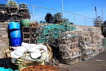 Lobster traps, Brixham,Devon