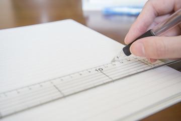 線を書く手