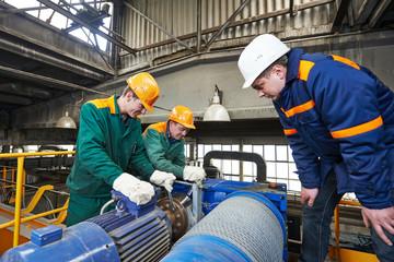 industry workers repairman with spanner