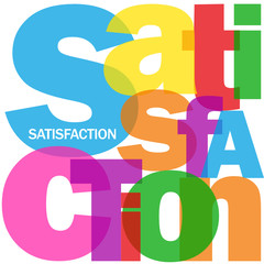 """Mosaïque de Lettres """"SATISFACTION"""" (qualité service avis client)"""