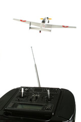 Comands for a model airplane