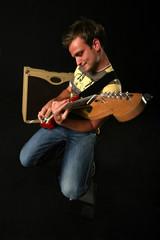 Guitarist posing