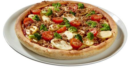 Mozerrella, Brokolie, Hackfleisch Pizza