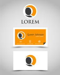 modern business card Q