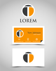 modern business card T