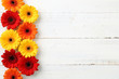 canvas print picture - Gerbera auf Holz